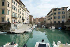 Livorno town, Italy Stock Photography