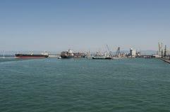 Livorno, Tuscany, Italy, Europe, Mediterranean Sea, Tyrrhenian Sea, port. Italy, 27/08/2017: panoramic view of the port of Livorno, the main port of Tuscany and stock images