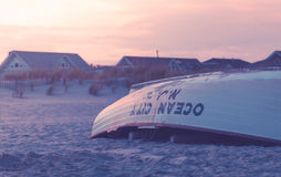 Livräddare Boat på stranden Royaltyfri Bild
