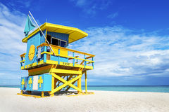 Livräddare Tower, Miami Beach, Florida Arkivbilder