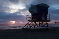 Livräddare Tower på La Jolla arkivfoto
