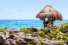 Livräddarekoja på mexicansk kust Royaltyfria Foton