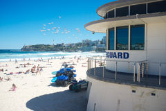 Livräddarestationen, Bondi strand, Sydney, Australien Arkivfoton