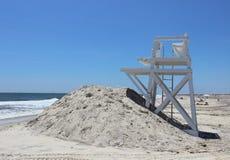 Livräddarestol på Jones Beach Arkivfoton