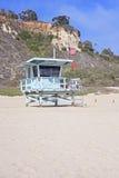 Livräddaretorn på en strand, Kalifornien, USA Fotografering för Bildbyråer