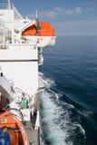 Livräddningsbåt på skeppet Fotografering för Bildbyråer