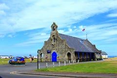 LivräddningsbåtstationsWalmer sjösida England Arkivfoton
