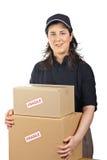 Livraison colis fragiles photographie stock