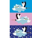 Livraison de cigogne Photographie stock libre de droits
