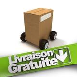Livraison gratuite, box on wheels Stock Photo