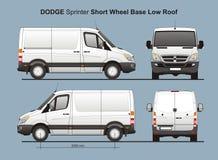 Livraison Van 2010 de toit du sprinter SWB de Dodge la basse Photographie stock libre de droits