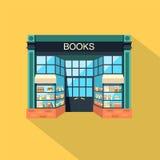 livraria Construção de loja no estilo liso do projeto Fotos de Stock