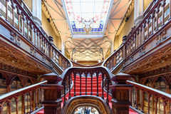Livraria Lello, the famous bookshop in Porto, Portugal Royalty Free Stock Images