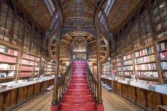 Livraria Lello, la librería famosa en Oporto, Portugal Fotos de archivo libres de regalías