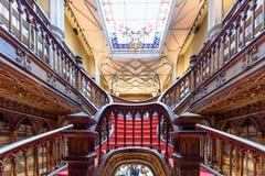 Livraria Lello, la librería famosa en Oporto, Portugal Imágenes de archivo libres de regalías
