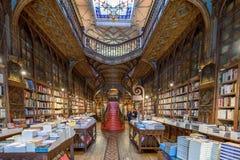 Livraria Lello, la librería famosa en Oporto, Portugal Imagen de archivo libre de regalías