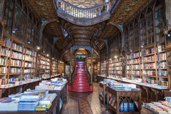 Livraria Lello, one of the oldest bookstores in Porto, Portugal Stock Image
