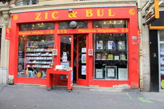 Livrarias brilhantes e coloridas, o Zic & Bul, Paris, França, 2016 Fotos de Stock