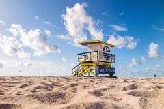 Livräddare Tower i den södra stranden, Miami Beach, Florida Royaltyfri Foto
