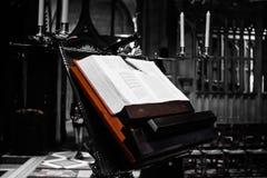 Livre à la cathédrale image libre de droits