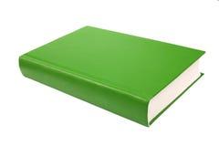 Livre vert épais d'isolement sur le fond blanc Photo libre de droits