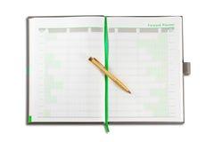 Livre annuel de planificateur de projet d'affaires Image stock