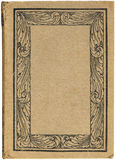 Livre antique avec la trame florale Images libres de droits