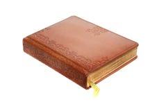 Livre attaché en cuir Image stock