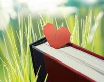 Livre avec la forme de coeur Images stock