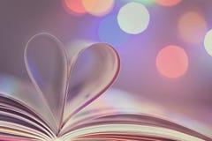 Livre avec le coeur Photo libre de droits