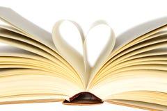 Livre avec le coeur Photographie stock libre de droits