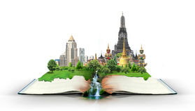 Livre avec le voyage de la Thaïlande Bangkok Photos stock