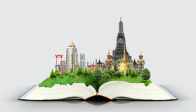 Livre avec le voyage de la Thaïlande Bangkok Image libre de droits