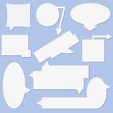 Livre blanc - bulle de communication de vecteur Images stock