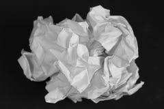 Livre blanc chiffonné Images libres de droits