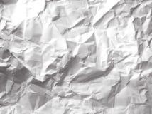 Livre blanc chiffonné Photo libre de droits