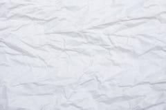 Livre blanc chiffonné pour le fond et la texture Photo stock