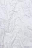 Livre blanc chiffonné pour le fond et la texture Images libres de droits
