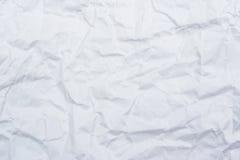 Livre blanc chiffonné pour le fond et la texture Image stock