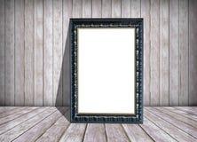 Livre blanc dans le cadre et le vieux mur en bois, la texture et le fond photographie stock