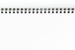 Livre blanc de croquis photo stock