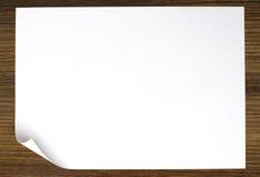 Livre blanc de défilement Photo stock