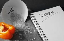 Livre blanc de recette Photos libres de droits