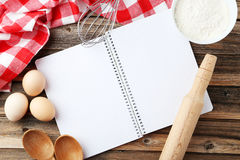 Livre blanc de recette Photo libre de droits