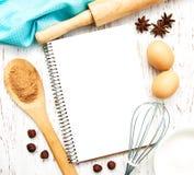 Livre blanc de recette Photo stock