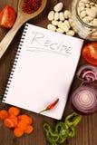 Livre blanc de recette Photographie stock
