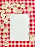 Livre blanc de recettes Images stock