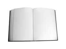 livre blanc ouvert Photographie stock libre de droits