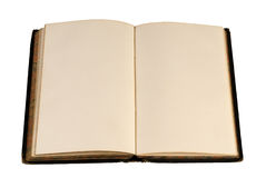 Livre blanc ouvert d'antiquité Image stock