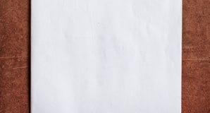 Livre blanc sur le panneau de particules Image stock